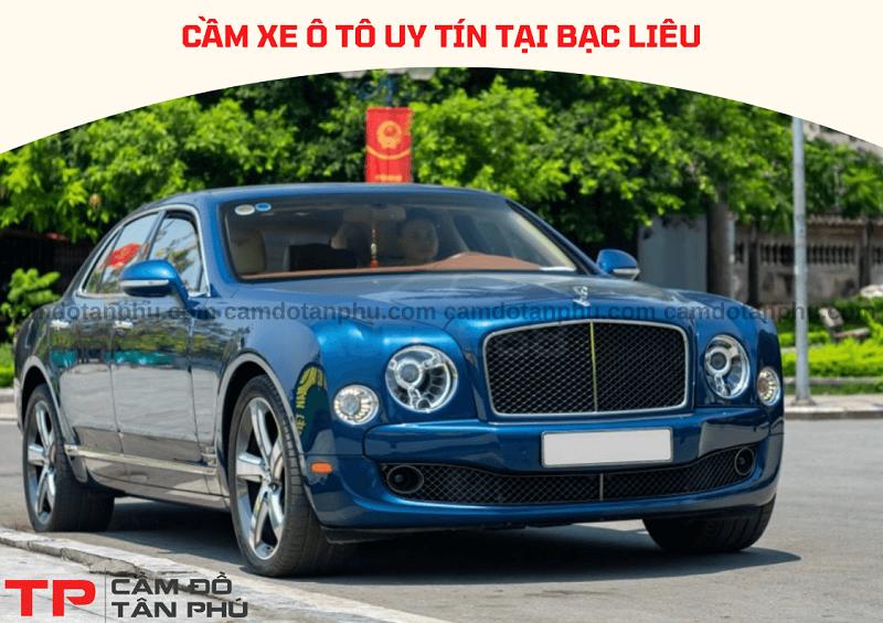 Dịch vụ cầm xe ô tô tại Bạc Liêu nhanh chóng