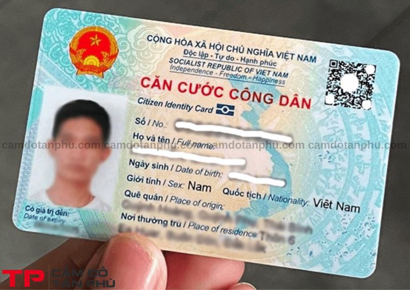 Cầm đồ giấy chứng minh nhân dân